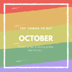 October What to Buy and What Not to Buy