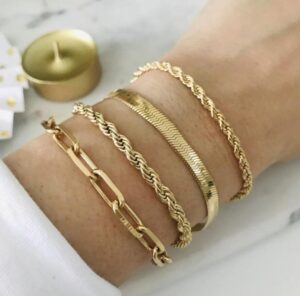 18K Gold Filled bracelets