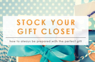 Tips for Creating a Gift Closet