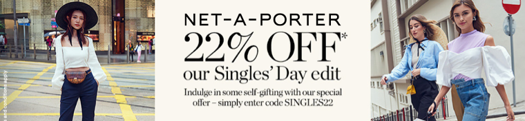 Net-A-Porter Luxury Fashion Singles Day Sale 2019