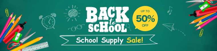 Back To School Supply Sale Up to 50% off