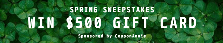 Couponannie's Sweepstakes Win $500